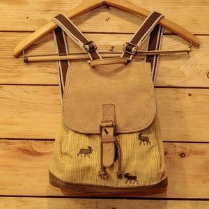 L.L. Bean Moose Embroidery Mini Corduroy Backpack